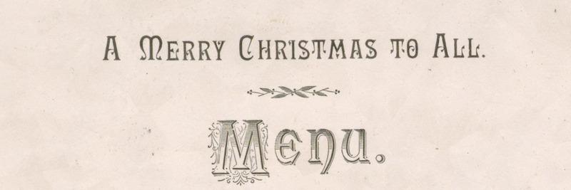 Christmas Day menu, The Hotel Dufferin.