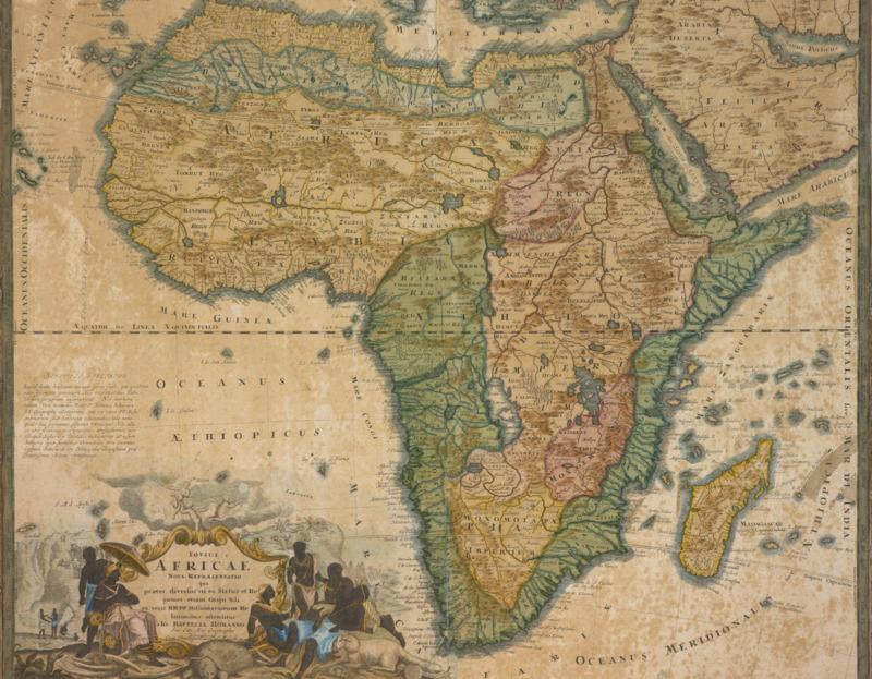 Totius Africae nova repraesentatio qua praeter diversos in ea status et regiones, etiam origo Nili ex veris rr. pp. missionariorum relationibus ostenditur