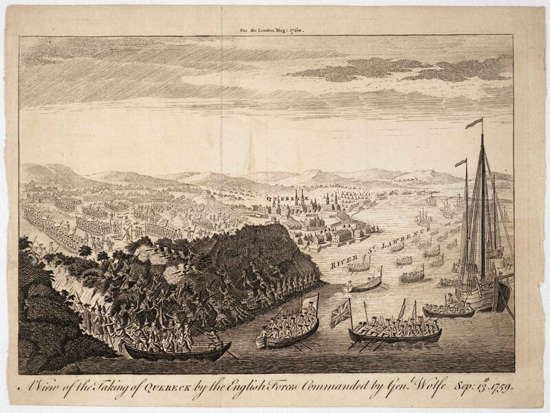 A View of the Taking of Quebeck by the English Forces commanded by Genl. Wolfe, Sep. 13th, 1759