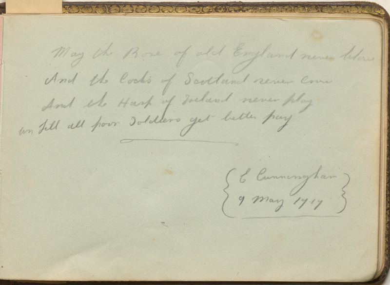 Autograph Book of Nurse Christine Wood Homes at Colliton House Hospital in Dorchester