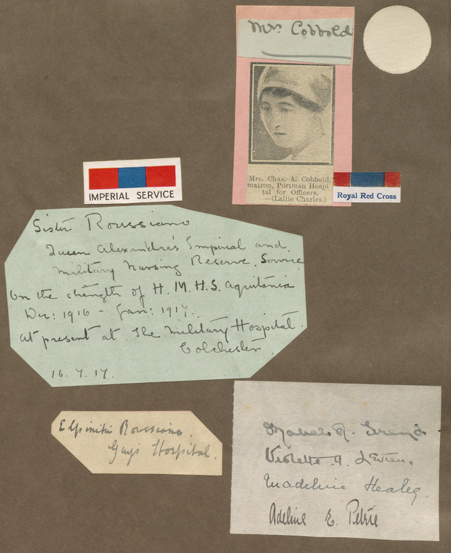 Autograph and Scrapbook of the Great War