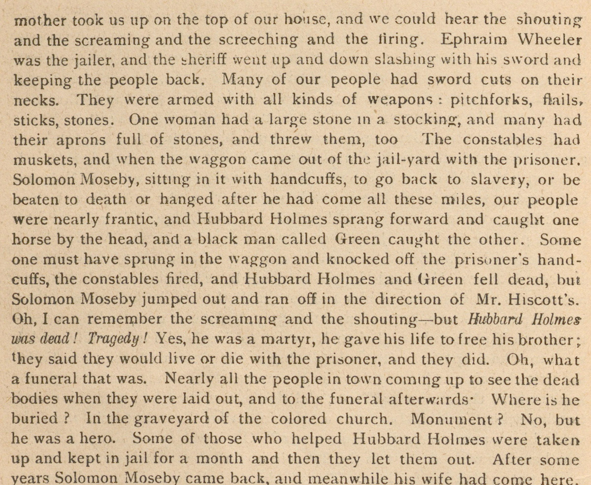 A Slave Rescue in Niagara Sixty Years Ago