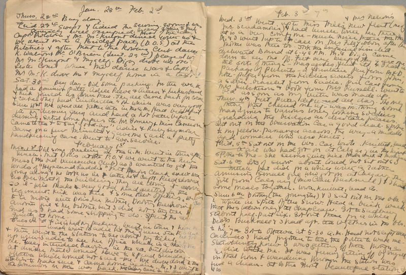 Diary of Edith Leckie