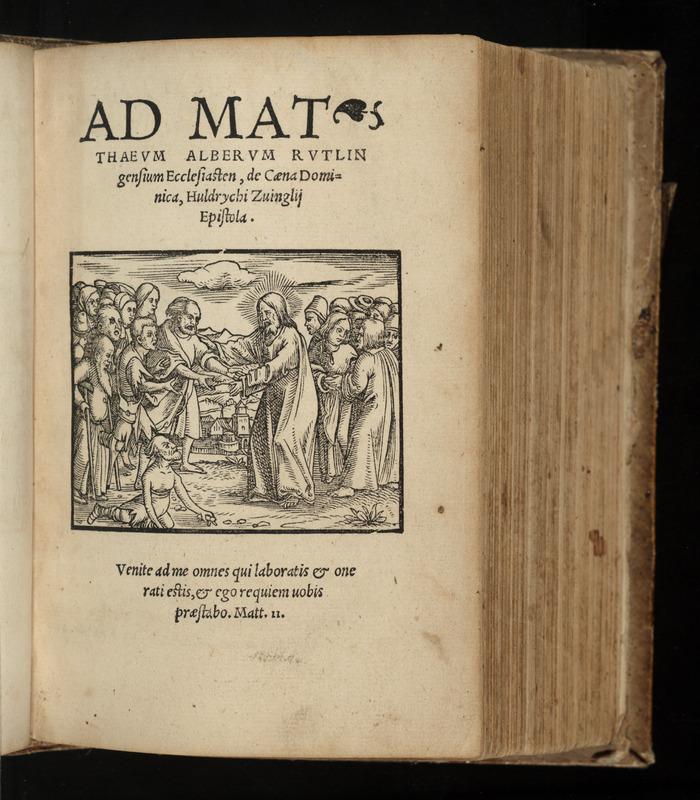 Ad Matthaeum Alberum Rutlingensium ecclesiasten, De cæna dominica, Huldrychi Zuinglii epistola