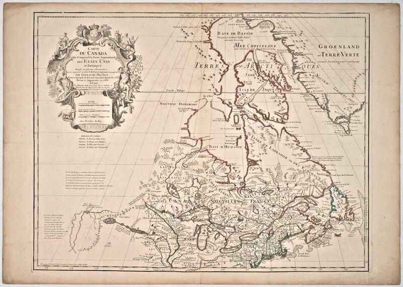 Carte du Canada qui comprend la partie septentrionale des Etats Unis d'Amérique