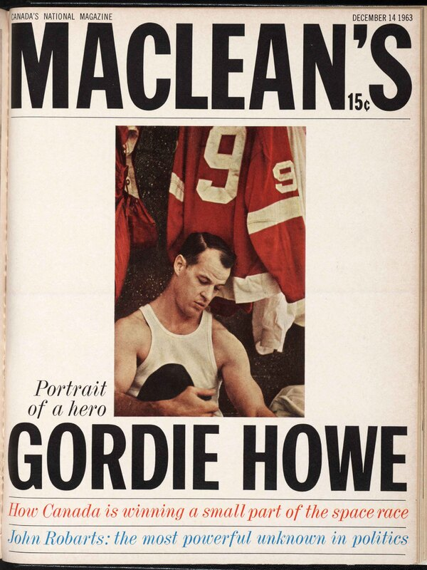 Gordie Howe on the cover of Maclean's Magazine