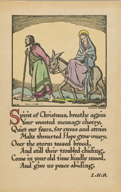 [Collection of Cuala Press Christmas cards]
