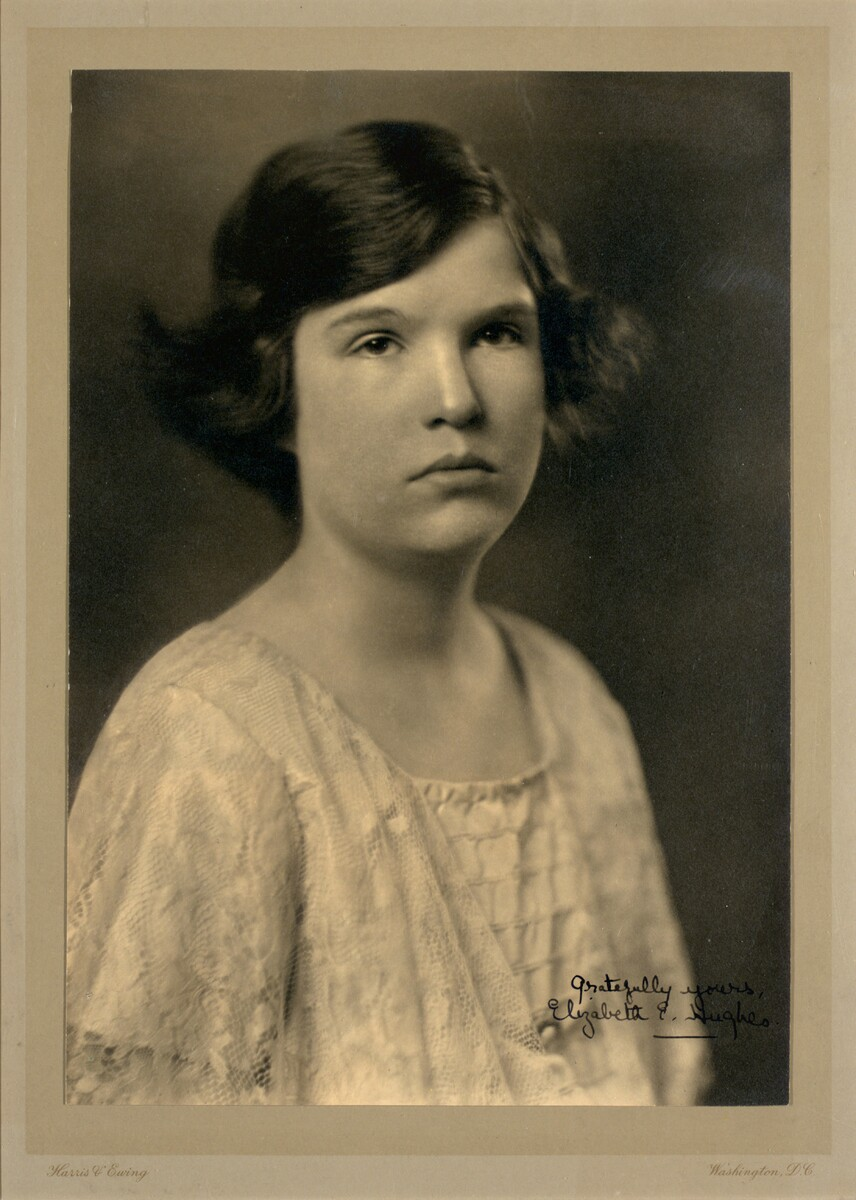 Photograph of Elizabeth Hughes ca. 1923