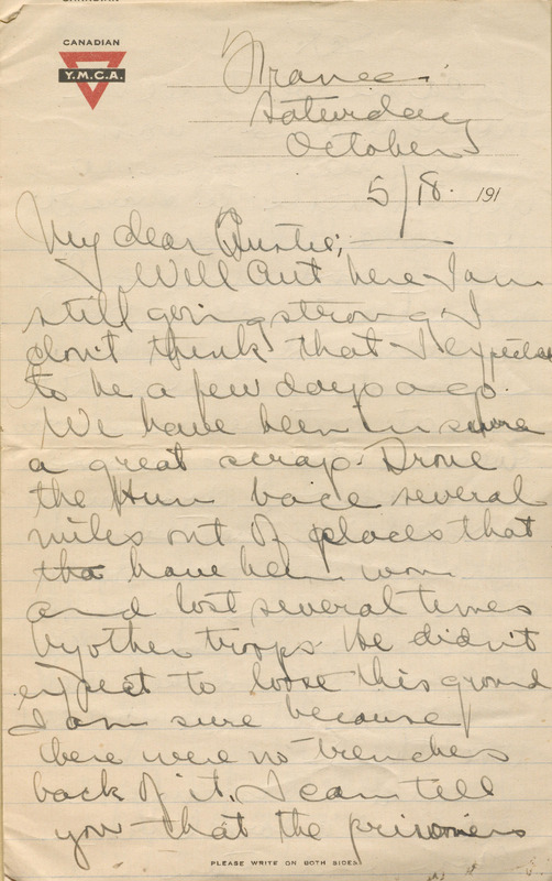 """Letter from Edward Anderson """"Ted"""" Richardson to his sister, Austin Richardson Ferris"""