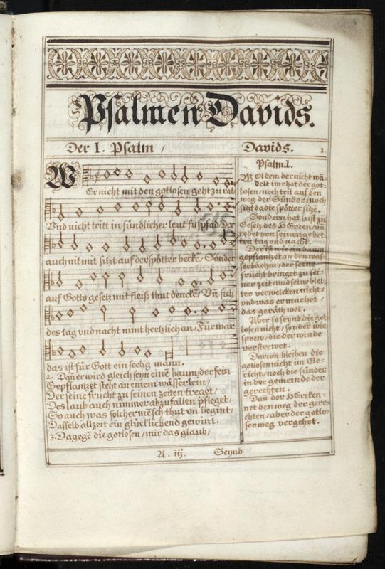 Psalmen Davids nach frantzösischer Meloden und Reymen Art in teutsche Reymen verständlich und deutich gebracht