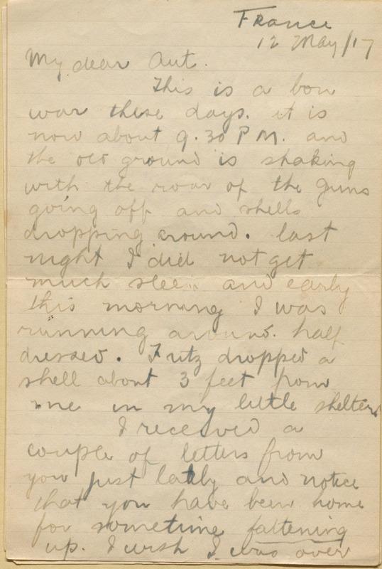Letter from Reginald Richardson to his sister, Austin Richardson Ferris