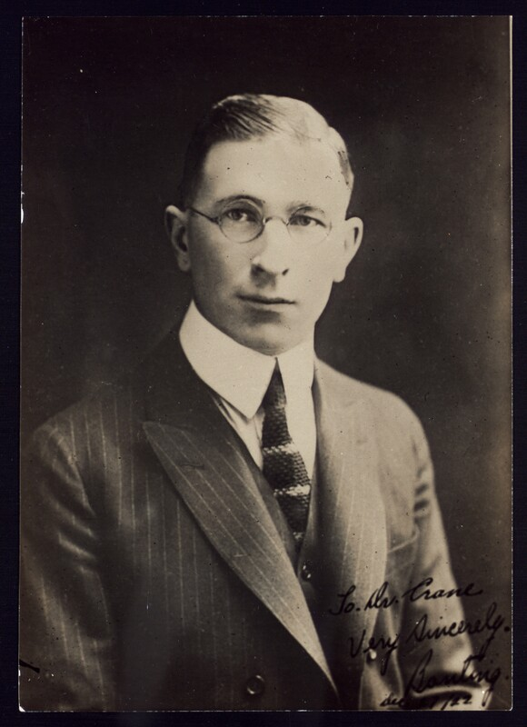 Photograph of F. G. Banting 27/12/1922.