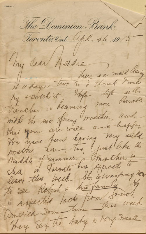 """Letter from Alma Keemlé to her brother, Charles Edmund """"Ned"""" Keemlé"""