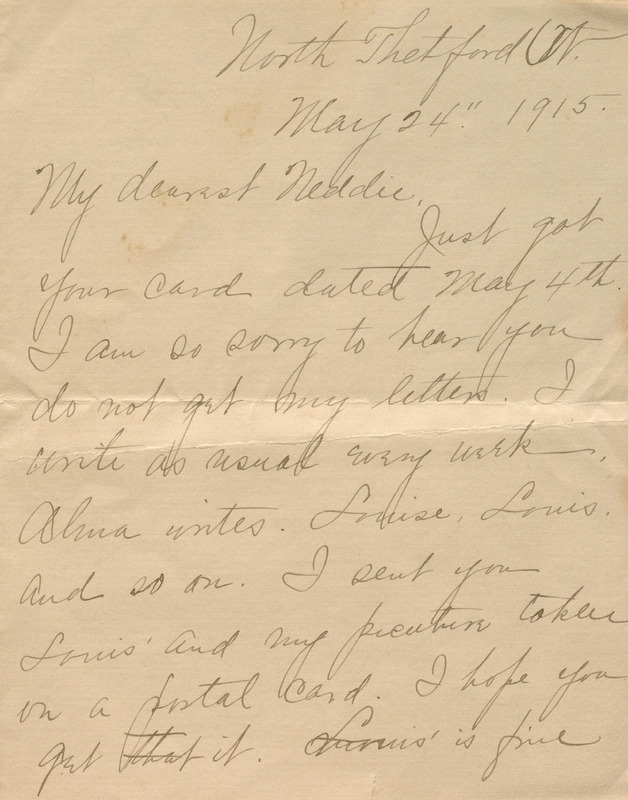 """Letter from Josephine Keemlé to her son, Charles Edmund """"Ned"""" Keemlé"""