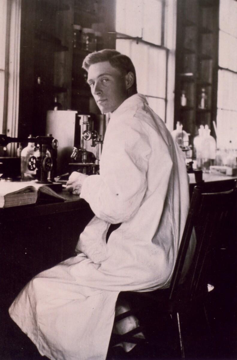 Photograph of J.B. Collip as a graduate student ca. 1914.
