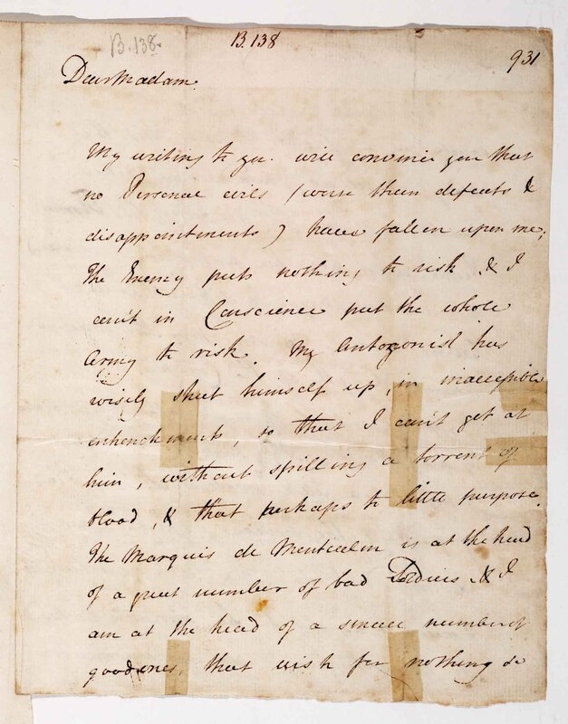 Letter to his mother, Henrietta Wolfe, three weeks after the Siege of Louisbourg, Cape Breton