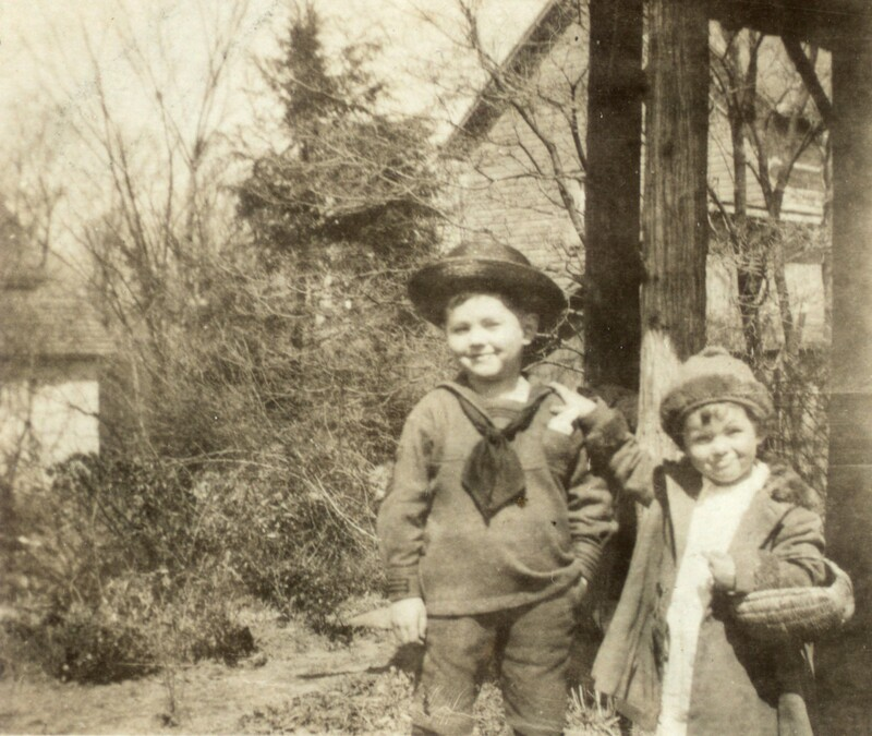Photograph of Teddy Ryder with his sister Margaret 04/1923