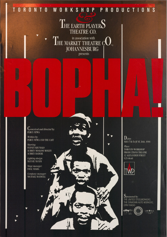 Poster for Theatre Production of Bopha!