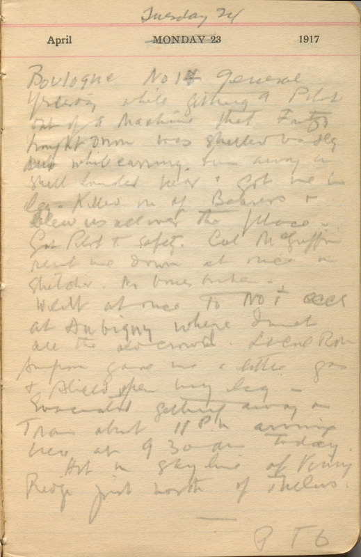 Diary entry by Ronald Hugh MacDonald for 24 April 1917