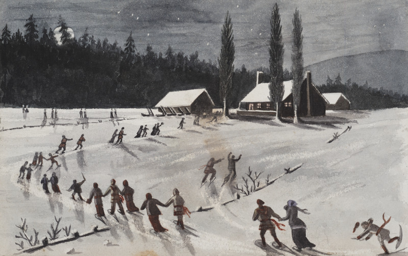 Album of original watercolours of views and activities during travel in Canada, Europe and California