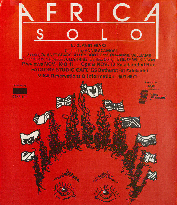 Poster for Premiere Production of Africa Solo