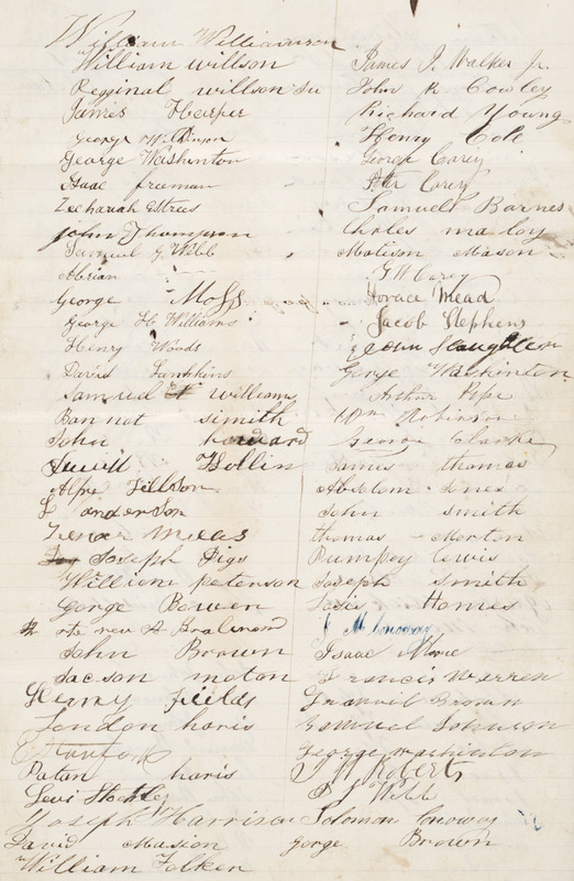 Address of the Colored [sic] People of Hamilton to Sir Allan Napier MacNab