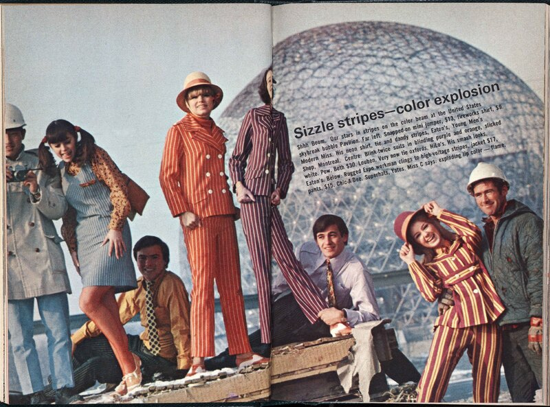Spread in Miss Chatelaine showing Fashions at Expo '67