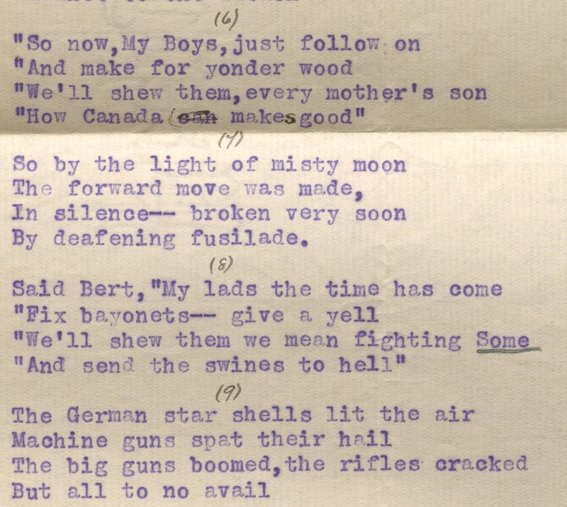 Poem about R.G.E Leckie written by his brother-in-law, John Smythe Annesley