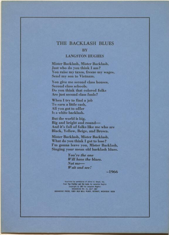 The Backlash Blues