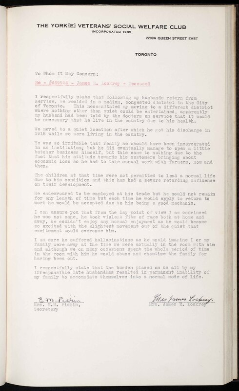 Statements made by the widows of veterans of the First World War seeking pensions and pension adjustments