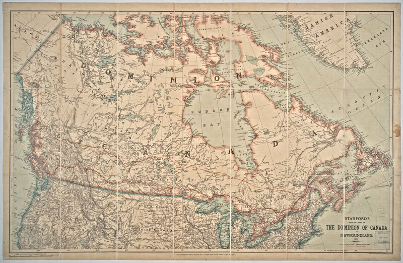 Stanford's general map of the Dominion of Canada and Newfoundland.
