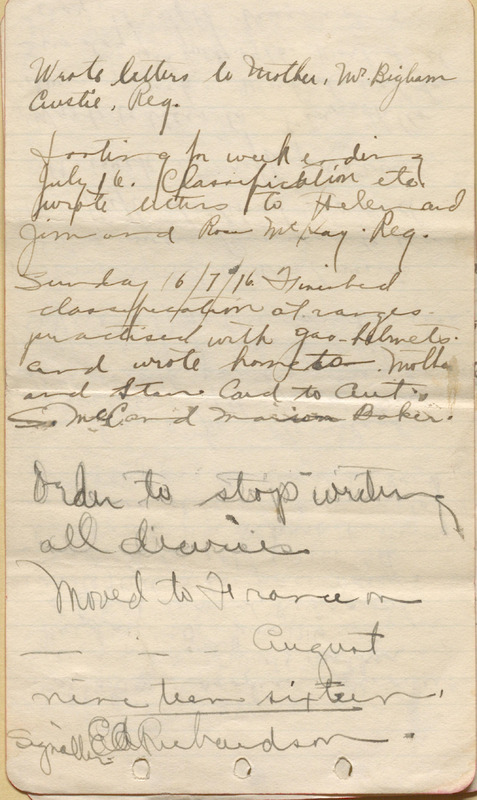 Edward Richardson's War Diary