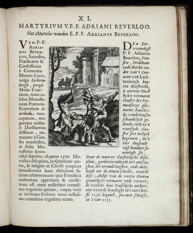 Delineatio historica Fratrum Minorum Prouinciæ Germaniæ Inferioris, a Geusiis in odium fidei crudeliter occisorum.
