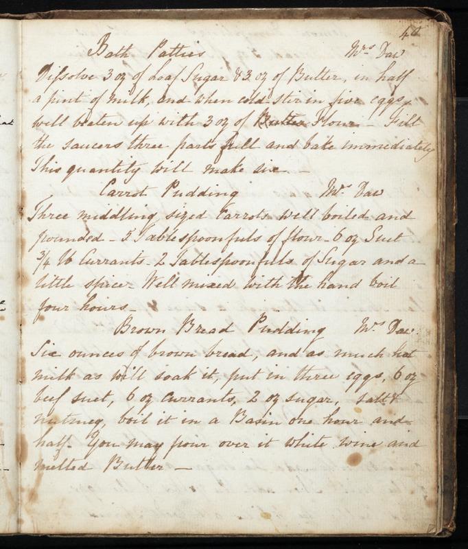 [Cookbook of British recipes]