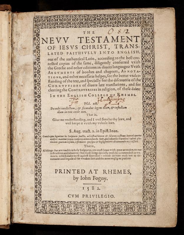 The Nevv Testament of Iesus Christ