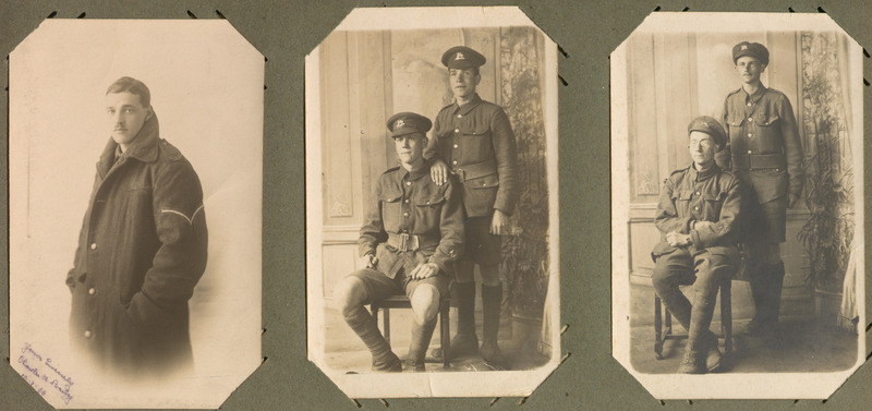 Album of postcards and other ephemera sent home from France and Belgium by Lance Corporal Gordon Stokes