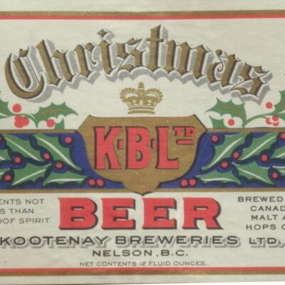 [Collection of  Canadian Beer labels, 1860s to 1980s]