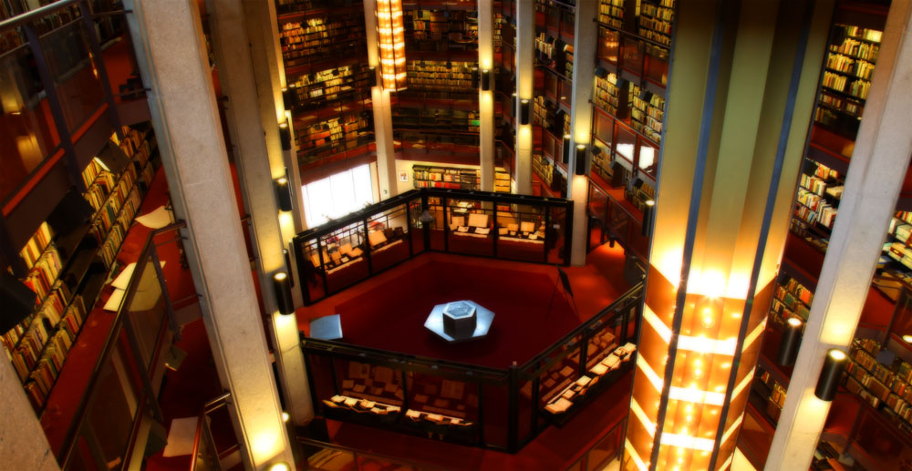 Interior of the Thomas Fisher Rare Book Library