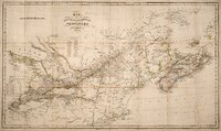 Map of the British North American provinces and adjoining states 1833