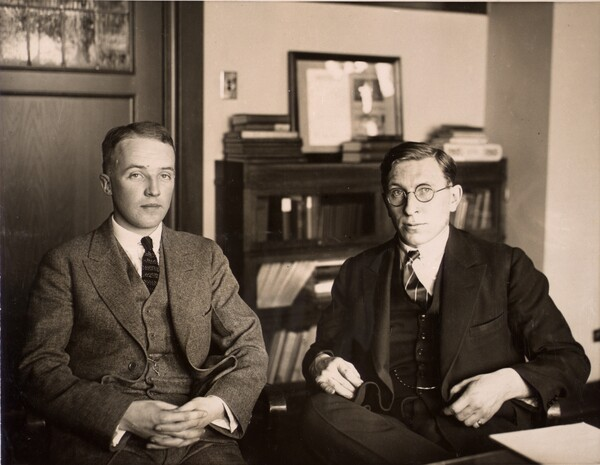 Photograph of C. H. Best and F. G. Banting ca. 1924