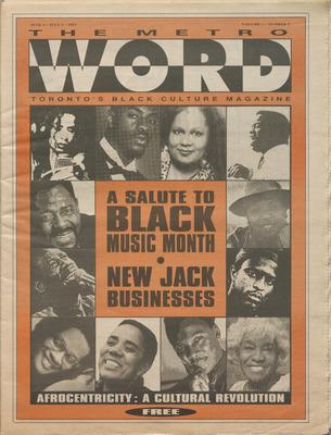 The Metro Word: Toronto's Black Culture  Magazine