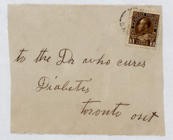 Envelope addressed to the Dr. who cures diabetis